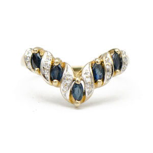 Jewelry - Marquise Sapphire and Diamond Curved Enhancer